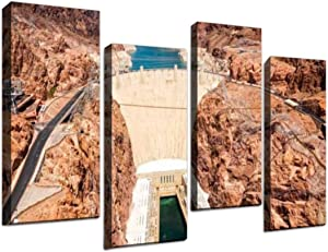 4 Panel Hoover Dam Grand Canyon Stock Pictures, Royalty Free Photos Images Canvas Wall Art Ocean Oil Painting Animal Prints City Poster Flower Pictures Home Wall Decoration for Artwork