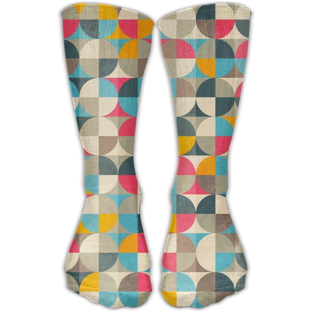 SARA NELL Women Lady Girls Classics Crew Socks Vintage Circles Personalized Athletic Dress Socks 30cm Long-All Season