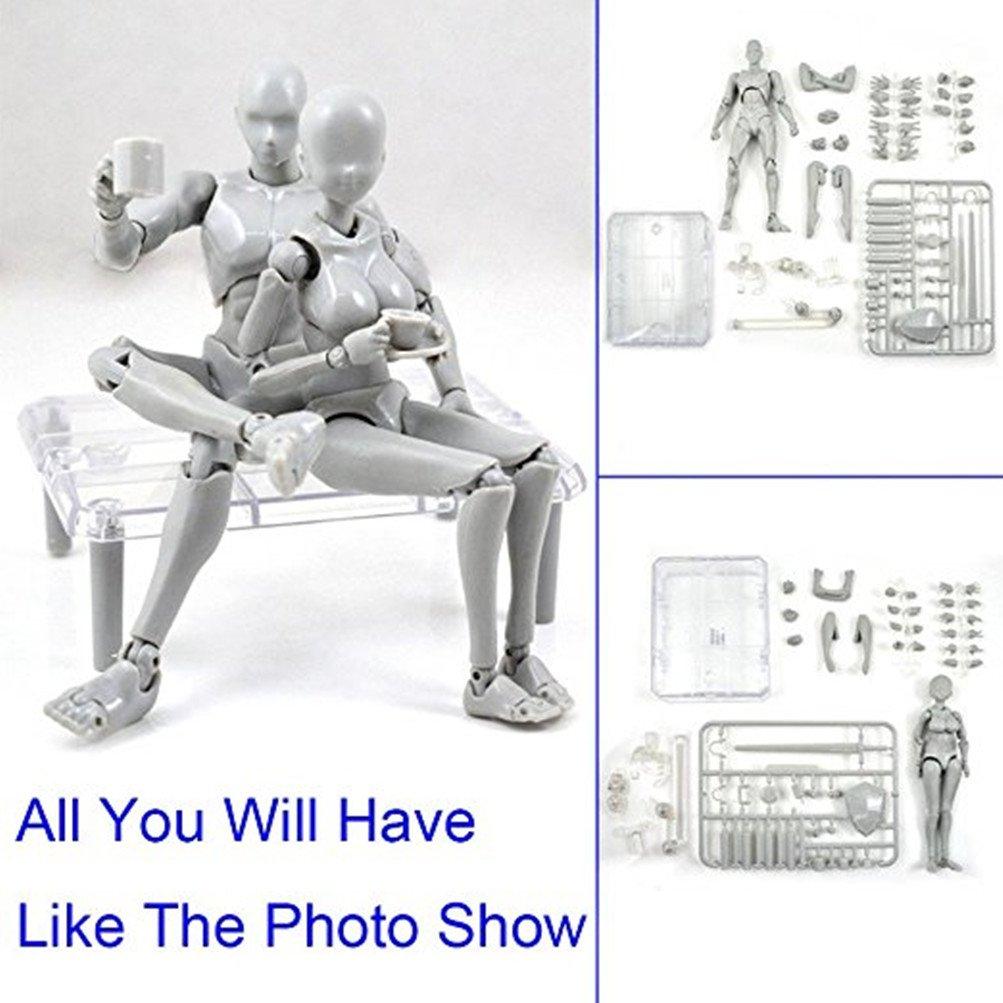 Yefun Body Kun DX Set Maschile e Femmina Action Figure Model Set per SHF Body Kun Doll PVC Body-Chan DX Set 2.0