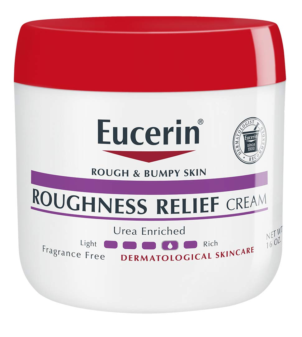 Eucerin Roughness Relief Cream   Body Moisturizer for Rough & Bumpy Skin   Urea Enriched Body Cream  Fragrance Free   Dermatologist Recommended Brand   16 ounce Jar