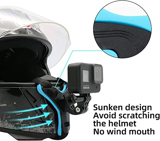 Motorcycle Helmet Chin Strap Mount for GoPro Xiaomi Yi OSMO Action Orange