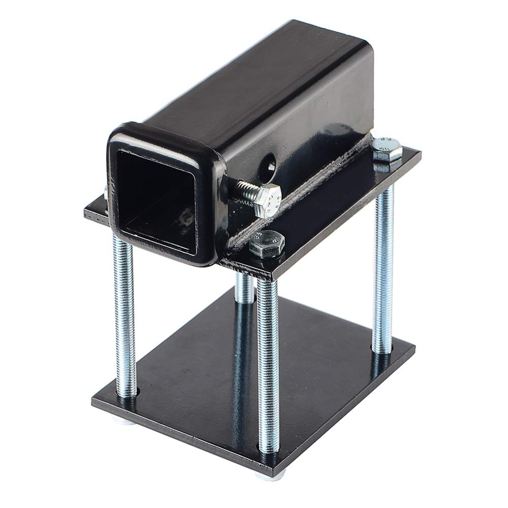 RV Bumper Hitch Receiver 2 Inch Adapter for 4-4.5 Inch Square RV Rear Bumpers by Toptow