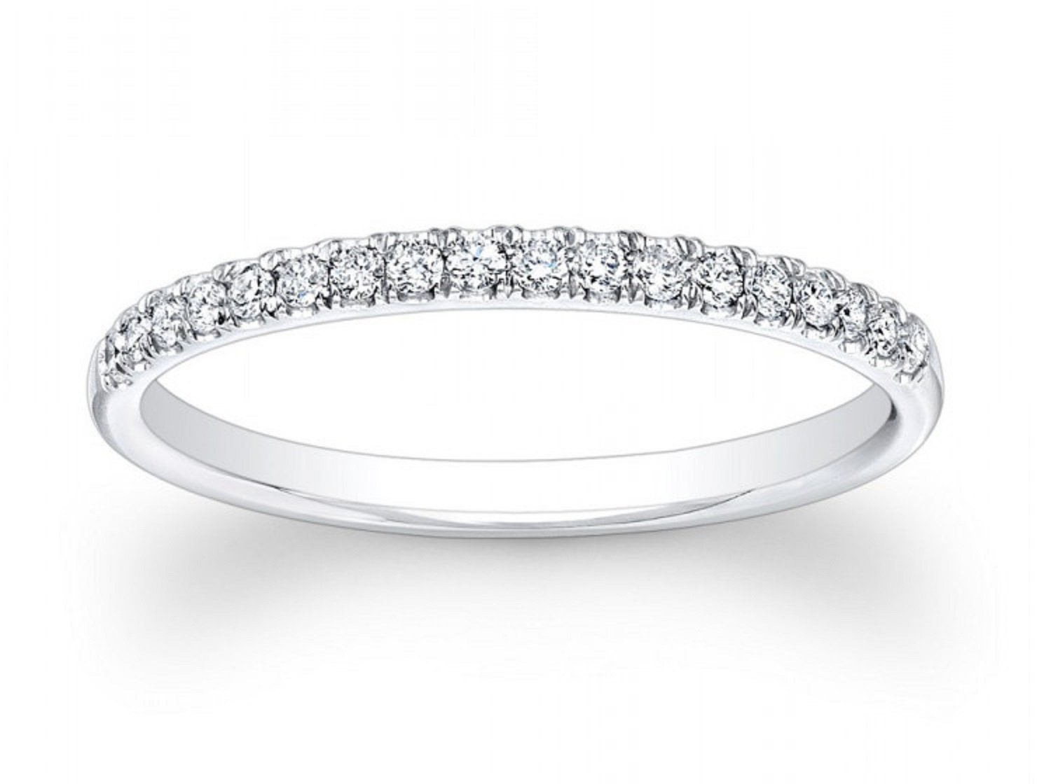 0.65ct Brilliant Round Cut Wedding Promise Bridal Engagement Band In Solid 14K White Gold for Women, Size 4.25, Clara Pucci by Clara Pucci
