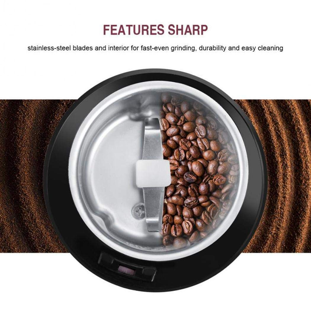Asatr Mini Grinder Machine Electric Coffee Bean Mill Grinder for Home Use Electric Blade Grinders by Asatr (Image #6)