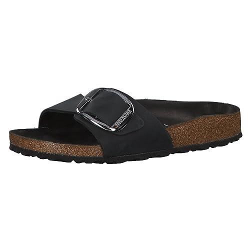 b91914779a7 Birkenstock Madrid Big Buckle Regular Fit - Black 1006522 (Leather) Womens  Sandals 41 EU
