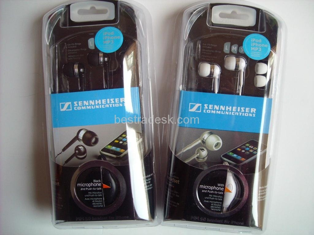 Sennheiser MM 50 iP Earbud Headset Compatible with iPhone & MP3 Players (Discontinued by Manufacturer)