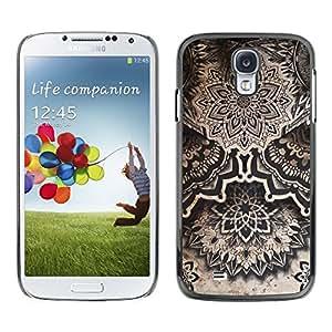 Caucho caso de Shell duro de la cubierta de accesorios de protección BY RAYDREAMMM - Samsung Galaxy S4 I9500 - Art Drawing Ink Black White