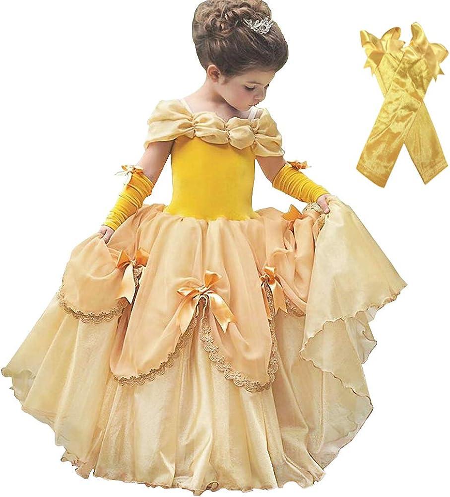 B07PNNJN9D Dressy Daisy Girls Princess Dress with Arm Mitts Dress Up Costumes Party Dress 61rjQSmOU8L