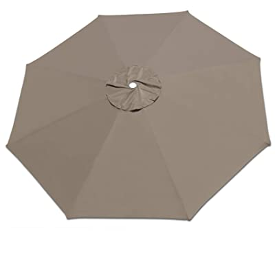 Strong Camel Replacement Patio Umbrella Canopy Cover for 13ft 8 Ribs Umbrella Taupe (Canopy ONLY)-Taupe : Garden & Outdoor