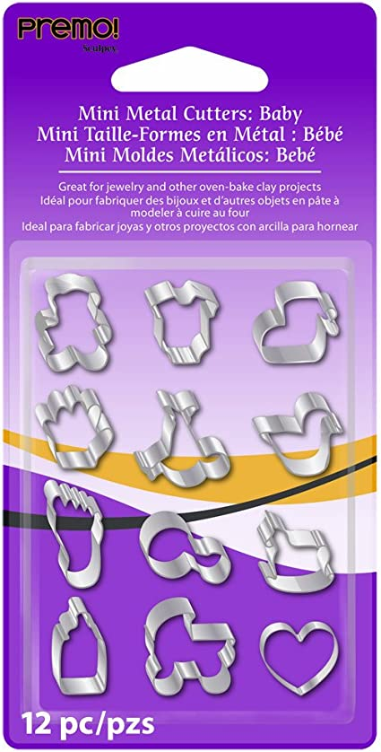 Sets Various Designs NEW Premo Mini Metal Clay Cutter 12 pc