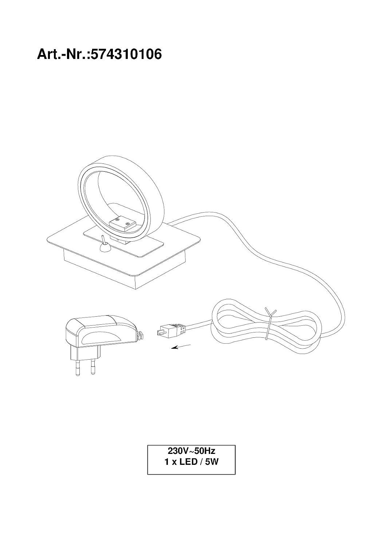trio leuchten led tischleuchte corland chrom schirm acryl wei 574310106 beleuchtung. Black Bedroom Furniture Sets. Home Design Ideas