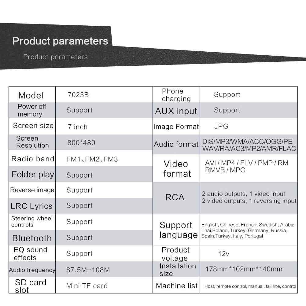 True-Ying - Receptor de Radio FM portátil para Coche, 7 Pulgadas, Bluetooth, táctil, USB, Reproductor MP5: Amazon.es: Coche y moto