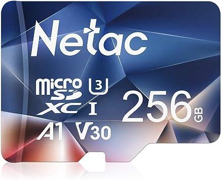 Netac Tarjeta de Memoria de 256GB, Tarjeta Memoria microSDXC(A1, U3, C10, V30, 4K, 667X) UHS-I Velocidad de Lectura hasta 100 MB/s, Tarjeta TF para Móvil, Cámara Deportiva, Gopro, Tableta, Dashcam: Amazon.es: Electrónica