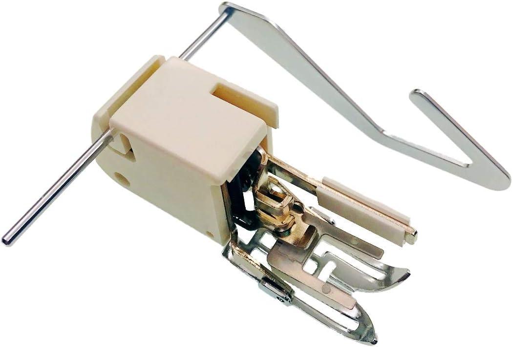 JZK Prensatela de doble arrastre con guia para máquinas de coser domésticas de bajo vástago para patchwork y acolchar, accesorio para Singer Brother Janome Elna Toyota
