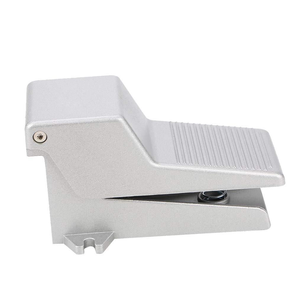 2 posiciones v/álvula de pedal de aleaci/ón de aluminio Akozon G1//4 control de prensado neum/ático V/álvula de pedal neum/ática 5 v/ías