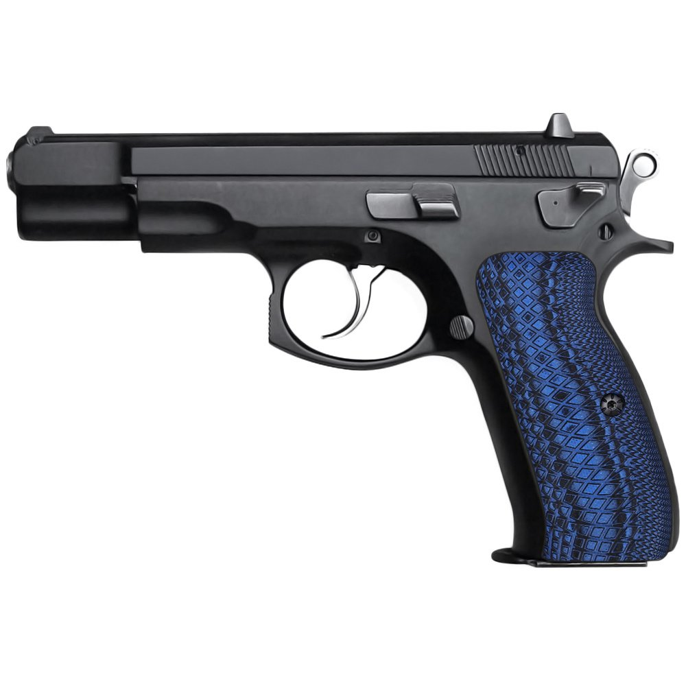 Cool Hand G10 Grips for CZ 75 Full Size, Snake Scale Texture, Brand, Blue/Black, H6-2-8 by Cool Hand