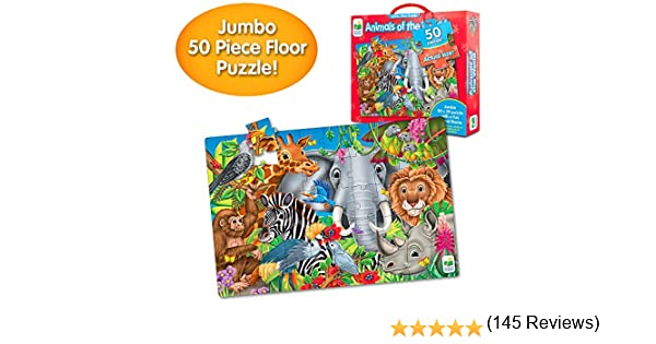 The Learning Journey Animals of The World-Extra Large Puzzle Measures 3X2