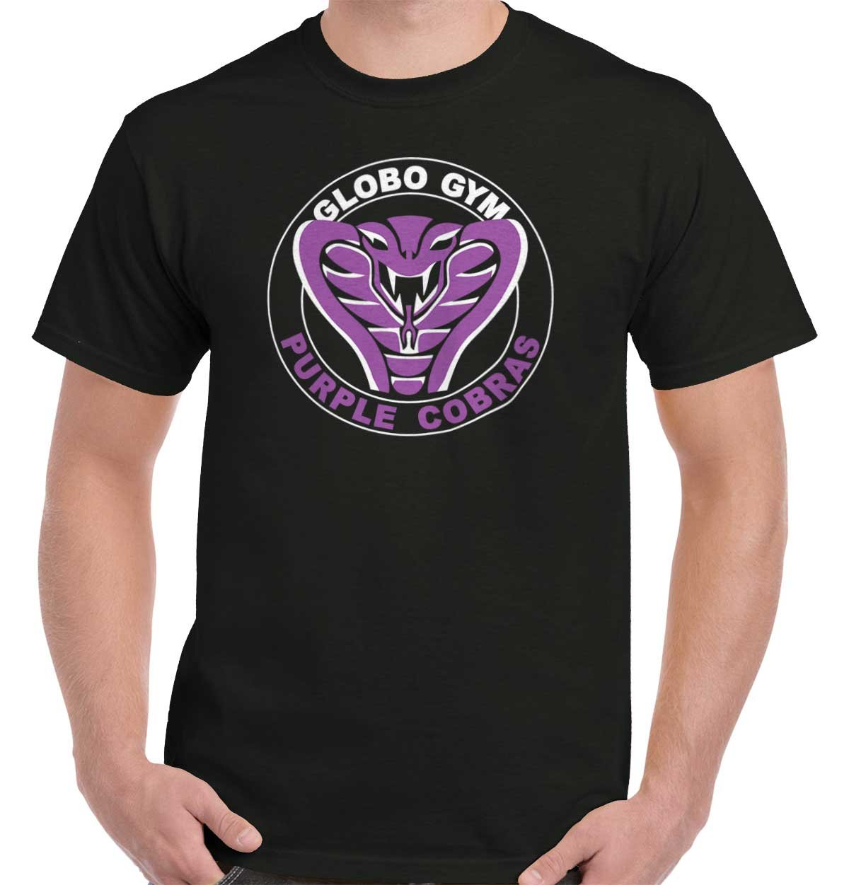 Globo Gym Dodgeball Funny Gift Cute Cool Purple Cobras Edgy T-Shirt Tee