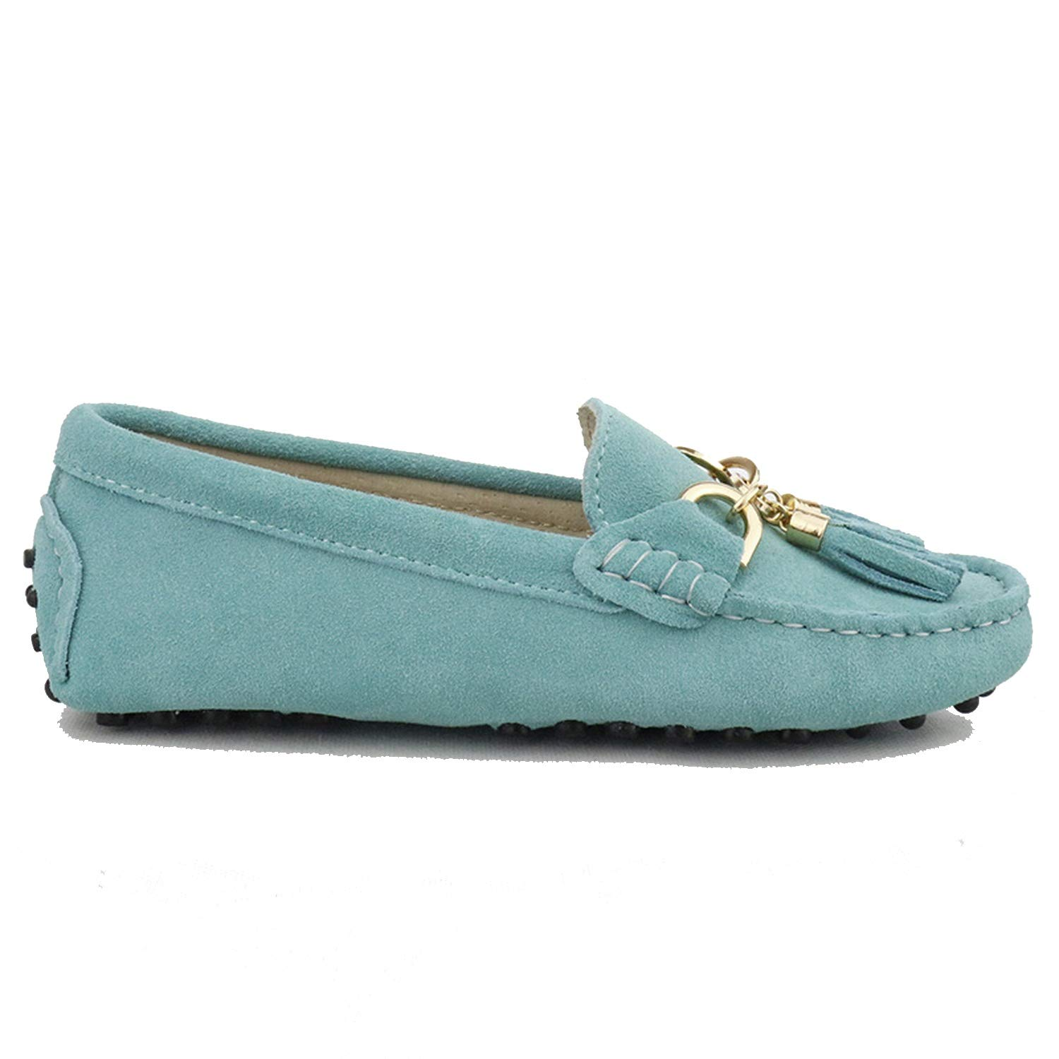 Green Lake Fashion Women Lady Leather Loafers Casual Driving shoes Women Flats shoes