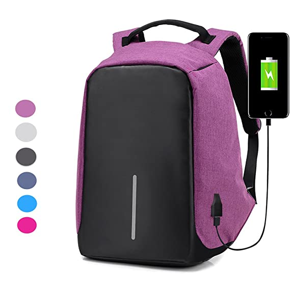 64e7cd5b750e Chikencall Anti-Theft Travel Backpack Laptop Bag USB Charging Port ...