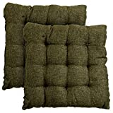 Story@Home 2 Piece Jute Chair Pad Set - 14'x14', Wood Brown