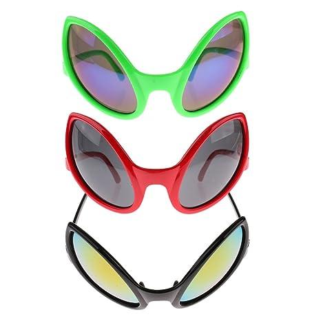 48321dac2f2 Amazon.com  Homyl 15 set Novelty Green Red Black Alien Sunglasses ...