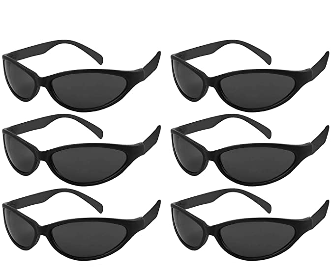 11ab53cfb7 Edge I-Wear 6 Pack 80 s Style Bulk Party Sunglasses Sport Party Favors for  Adult