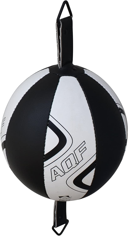 AQF Punching Ball Double Ballon De Boxe Vitesse en Cuir Rex Sac Vitesse De Boxe MMA Sac De Boxe De Plafond pour L/'Entrainement
