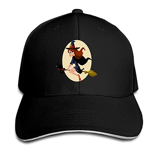 2d3ae4bdfc2 Amazon.com  Halloween Witch Baseball Cap Dad Hat Low Profile Adjustable for  Men Women  Clothing