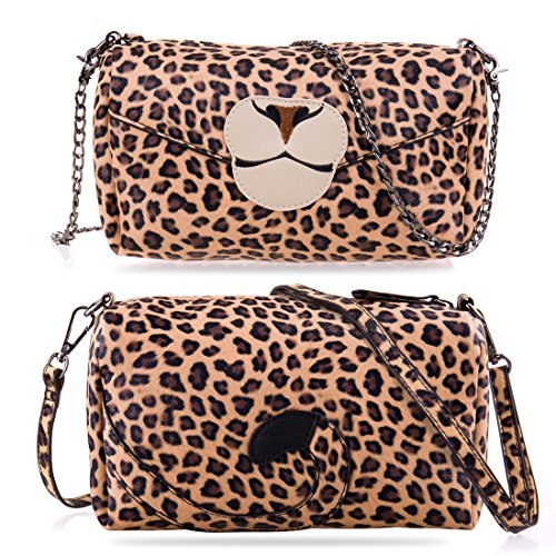 Leopard Animal Handbag Womens Sixteen18 Straps w Safari Boxy Print Detachable 3 Purse gfPFPw