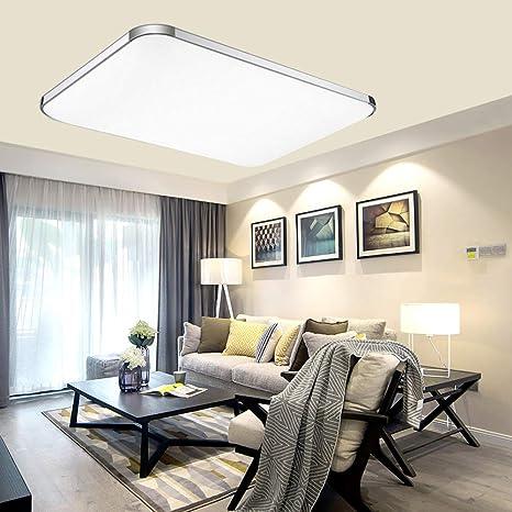 ADEMAY 64W Blanco frío Moderno LED llamativo Diseño luz de techo pasillo lámpara de sala Cocina dormitorio Luz de panel de luz de ahorro de ...