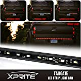 """Xprite High Intensity Weather-Proof 60"""" Inch Red Tailgate LED Light Bar with White Reverse Lights"""