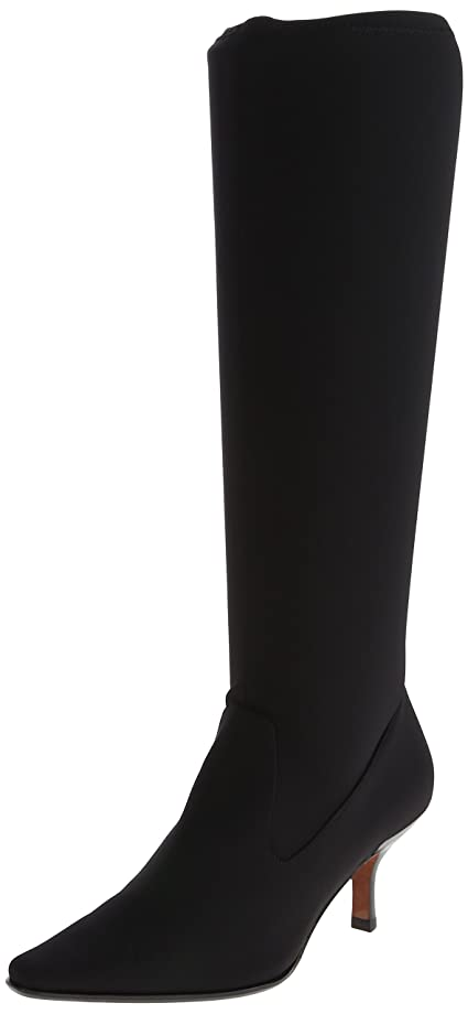 Black leather dress boots womens