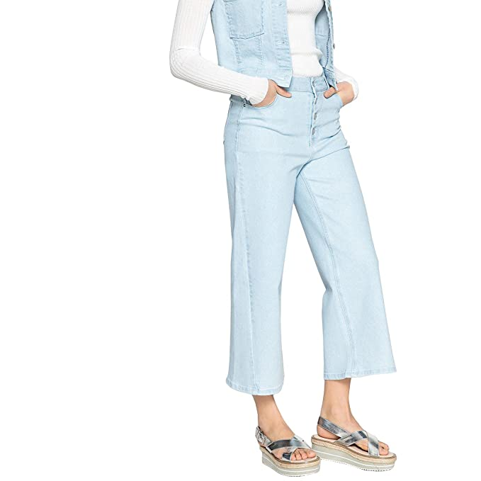 48f7dcf7b7 La Redoute Collections Uniross Donna Jeans Larghi Cropped: Amazon.it ...