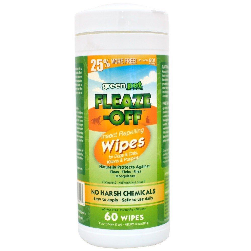 Green Pet Fleaze-Off Wipes (30 ct)