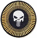 Orange Skull Swat Tactical Military Patch Iron On Vest Suit Jacket Bag Cap