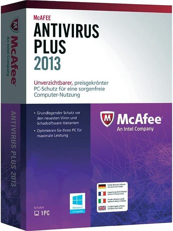 McAfee AntiVirus Plus 2013, 3U, ESP - Seguridad y antivirus (3U ...