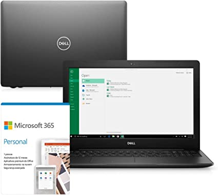 "Notebook - Dell I15-3583-m05f Pentium 5405u 2.30ghz 4gb 500gb Padrão Intel Hd Graphics 610 Windows 10 Home Inspiron 15,6"" Polegadas"