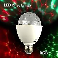 ZjRight E27 Mini discoteca Luces Lámparas de Bombilla Auto Rotación LED de color RGB para DJ Stage Home Party [Clase de eficiencia energética A]