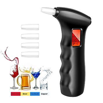 Amazon.es: POMILE Alcoholímetro Digital Portátil con Sensor Semiconductor, Pantalla LCD Digital Grande Breath Alcohol Tester, 5 Boquillas Adicionales (en la ...