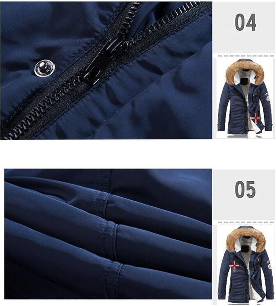 Wicky LS Mens Warm Thicken Winter Fur Hoodie Jacket Coat