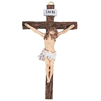 amazon com juvale crucifix wall cross jesus cross catholic cross