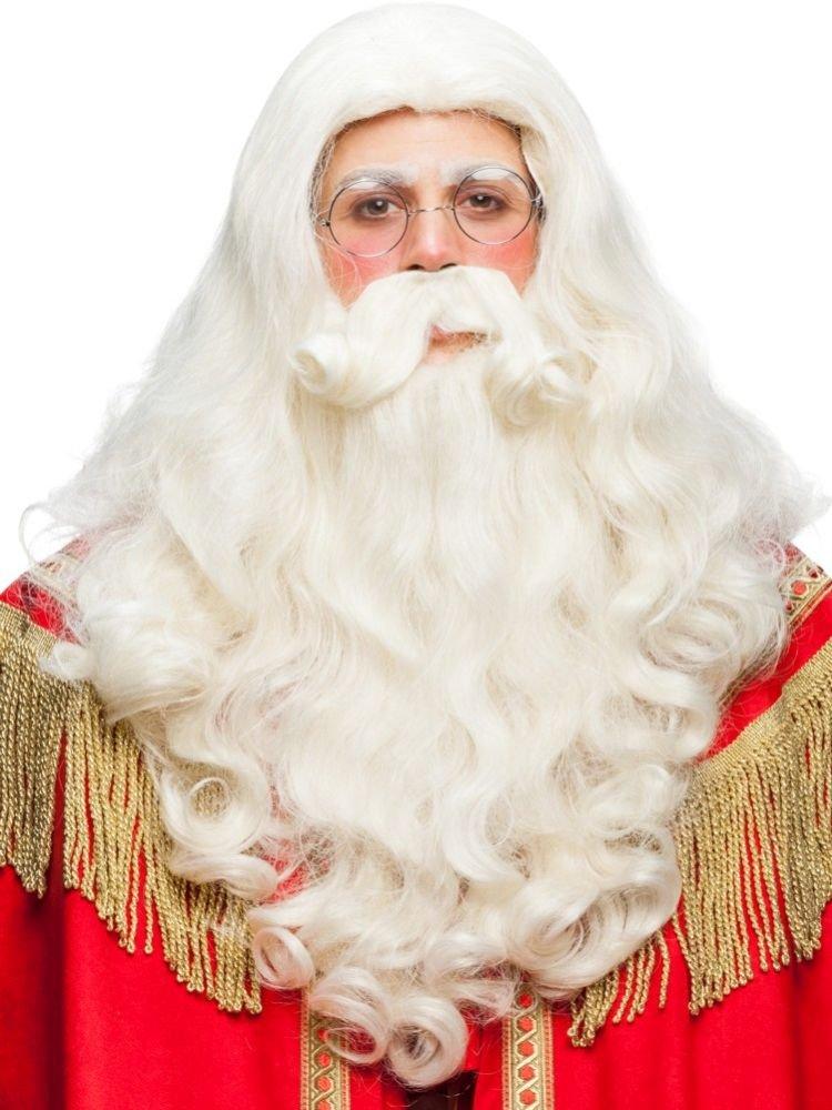Barba parrucca e baffo Babbo Natale. Alta Qualita'