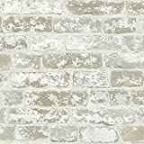 York Wallcoverings RB4304 White Brick Prepasted Removable Wallpaper