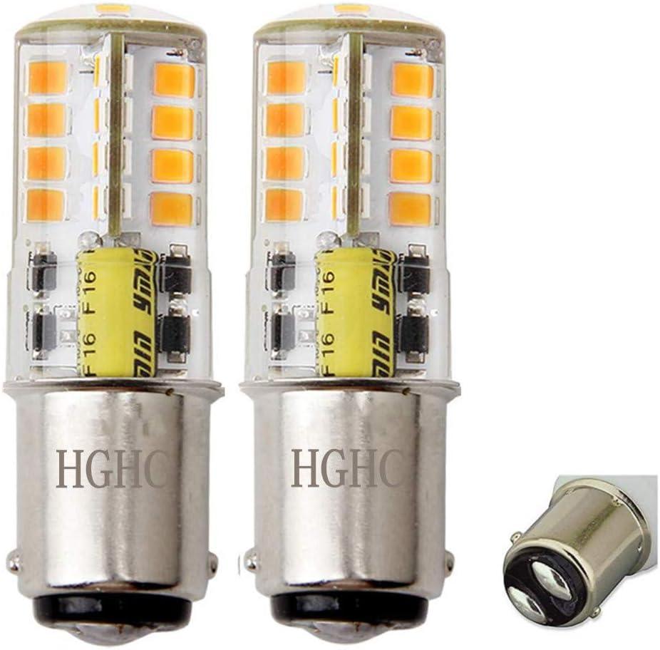 Iluminaci/ón del paisaje RV 2-Pack Bombilla LED BA15s 12V AC//DC 1156 1141 S8 base de contacto simple bombilla resistente al agua 5W c/álido blanco 3000 k 500LM para barco etc. autom/óvil