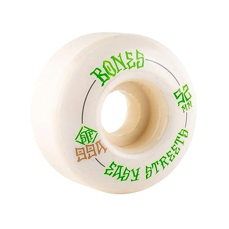 Bones Wheels STF Easy Streets V1 99A - Ruedas para monopatín, 3 mm