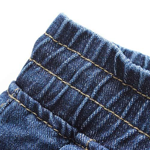 Foncé Travail Holywin Pantalons Jeans Homme Denim De Dessiner Bleu Automne Des Coton Décontracté Élastique OqnOz1g
