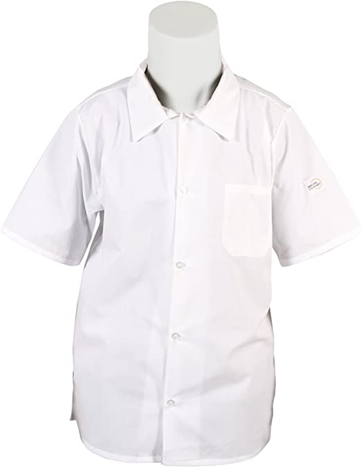 Mercer Culinary M60200WH3X Millennia Mens Cook Shirt with Wicking Mesh Back White 3X-Large