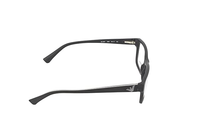 d50e535a2098 Emporio Armani EA3057 Eyeglass Frames 5364 - Matte Black 54mm at Amazon  Men s Clothing store