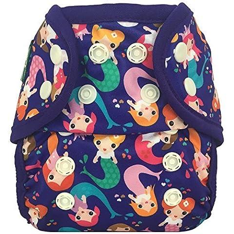 Bummis Swimmi Swim Cloth Diaper - Mermaid - One Size - 10 - 35 pounds ( 4.5 – 16 kg).